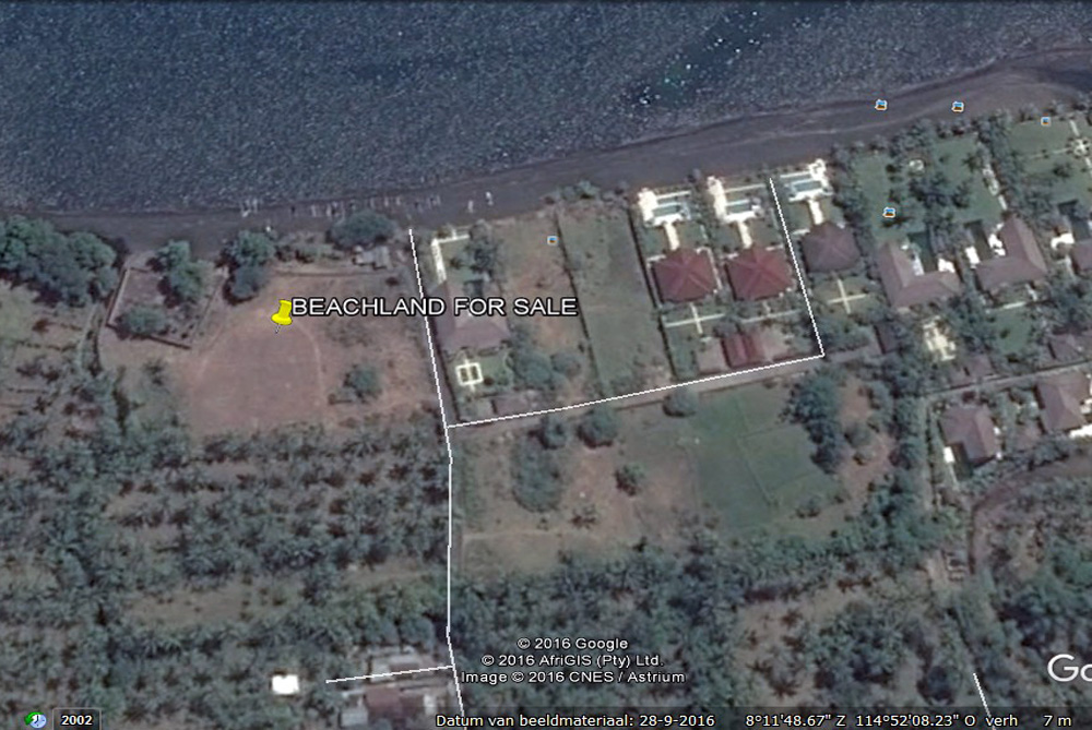 North Bali beachfront land for sale – 110 meter oceanfront