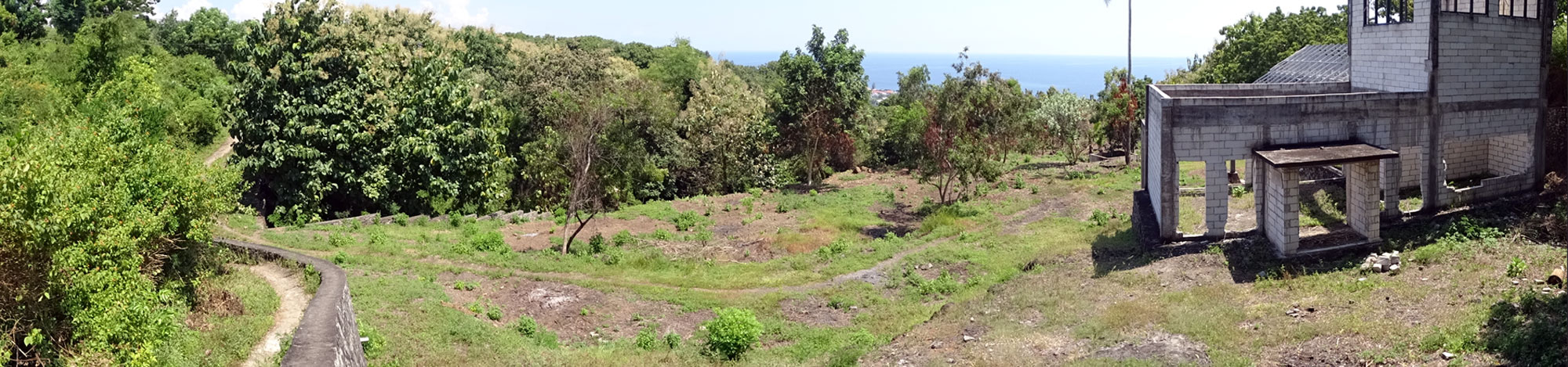Bali land with sea view for sale